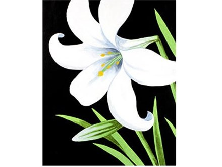 Canvas & Wine Night!  Easter Lily!  3/24/16