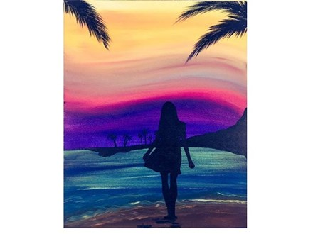 Island Girl - Canvas - Paint and Sip