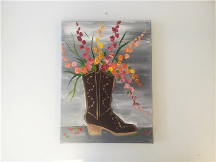 "Cowboy ""Boot""quet (Am. Cancer Society Fundraiser) Canvas Class"