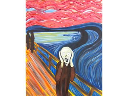 """The Shriek"" Canvas Class, September 20th"