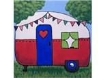 Canvas & Wine Night! Happy Camper! 7/31/17