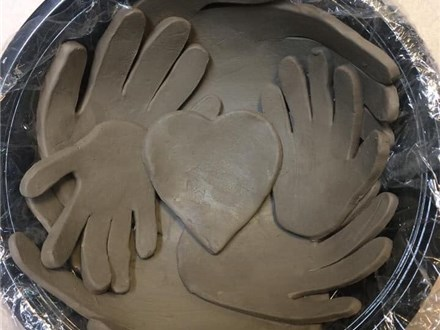 Clay Handprint Bowl Workshop, Feb 23rd and 28th