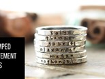 Stamped Statement Rings