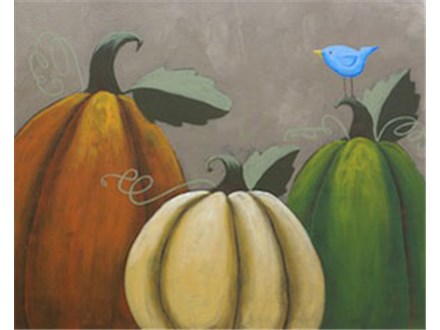 Rustic Pumpkins Canvas Painting Class