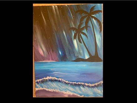 03/05 Guest Artist-Family Friendly-Acrylic: Midnight in Paradise $25 4PM