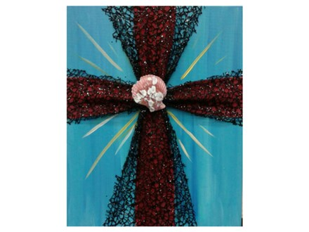 Mixed Media Cross - Paint & Sip - March 1