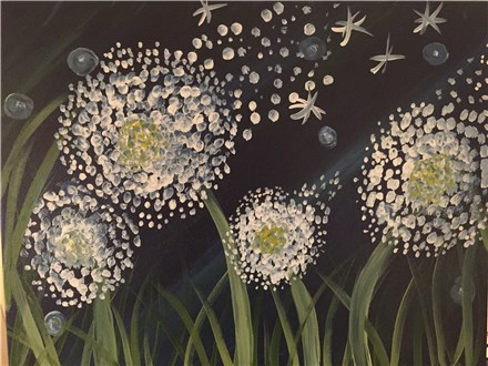 "Canvas Night ""Midnight Dandelions"", Sat. May 30th  7-9 p.m."