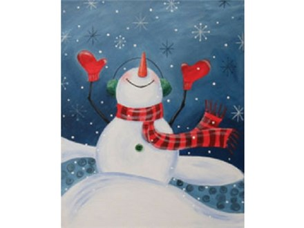 """""""Let It Snow"""" Canvas Class, January 3rd"""