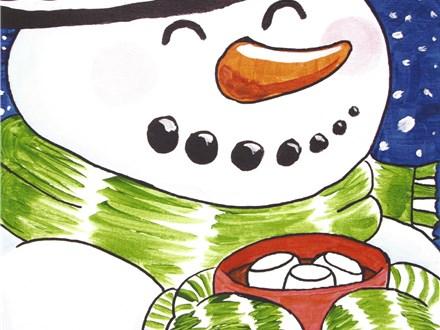 Christmas Eve Snowman Canvas Dec. 24