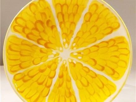 Virtual Class - Citrus Design on Plate
