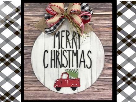 Christmas in July Door Hanger