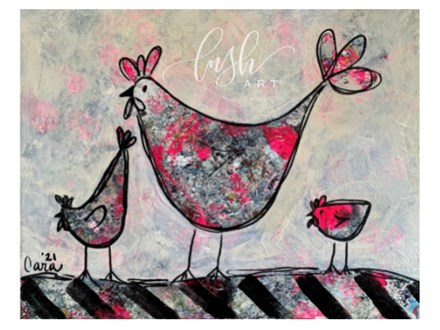 Kid's Chickens Paint Class - WR