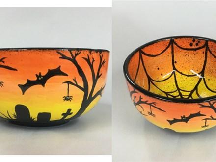 Halloween Bowl Kid/Teen Ceramic - 10/08