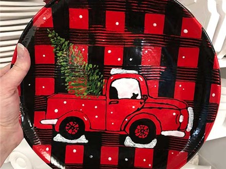 Ladies Night Out - Red Truck Plate Project