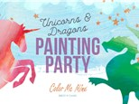 Unicorn and Dragon Painting Party Jan 19, 2020