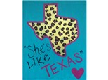 Customizable Texas Canvas (pick your colors & designs!)