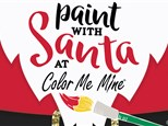 Paint with Santa at Color Me Mine - Saturday, December 18th @10am