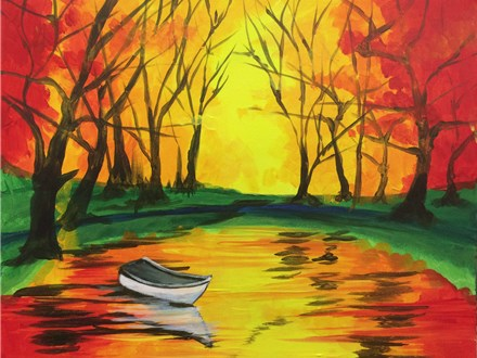 Creative Canvas Class - Fall on the Lake November 6