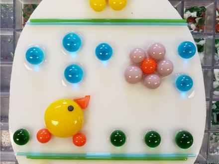 Kids Art Club Fused Glass Easter Egg Ornaments 2