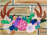 """""""Antler & Flowers"""" Canvas Class, July 1st"""