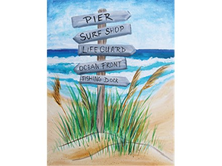 """Beach, This Way!"" Canvas Class, September 12th"