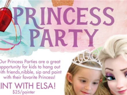 VALENTINES PAINT WITH ELSA PRINCESS PARTY ~ Sunday, 2/9/20