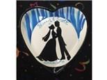 "heart shaped wedding plate 10.5"""