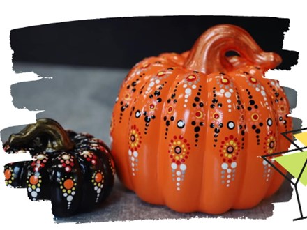 Happy Hour with Jules : Mandala Pumpkin Painting