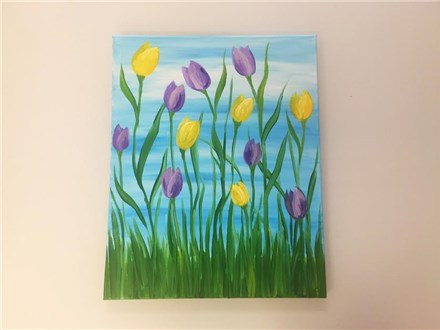 Springtime Tulips (adult) canvas class
