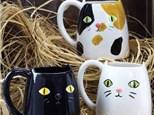 """ Cat Mug"" To-Go Kit-at Color Me Mine - Aspen"