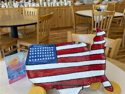 """""""USA Red, White & Blue"""" - Large USA Platter, Crafts, Movie, and FUN! Monday, August 3rd: 10am-3pm"""