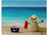 Summer Sandman Beach Life - option to paint different designs for sandman.