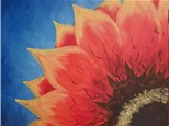 Paint Your Own Canvas Pack - Red Sunflower