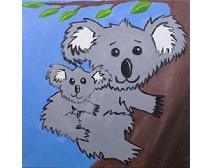 Summer Kids' Canvas Class! Koala Hugs! 8/1/18