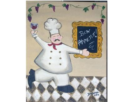 Paint & Sip - Bon Appetit- Jan. 25 - 7:30 PM