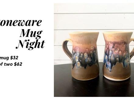 Mt. Washington Stoneware Mug Night - Jan 9th