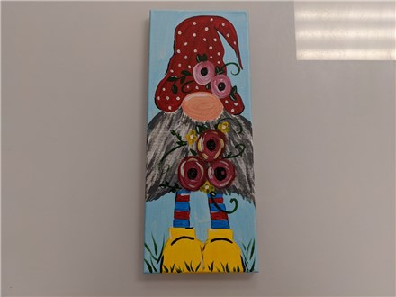 Posey Gnomey Adult Canvas Class $35