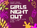 Girls Night Out - Paint Your Own Pottery