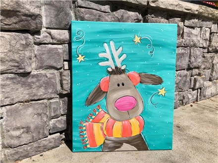 Funky Reindeer Canvas Class Dec. 14th