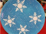 Snowflake Plate Paint to go kit
