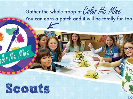 Girl Scouts Paint and Create thru May - Monday  thru Thursday. Reserve the Party Room!