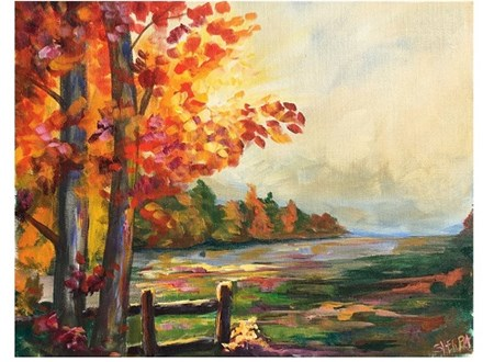 Autumn Lovers - Canvas - Paint and Sip