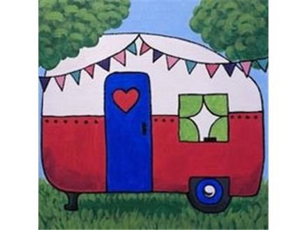 """Canvas & Cones """"Happy Camper"""""""