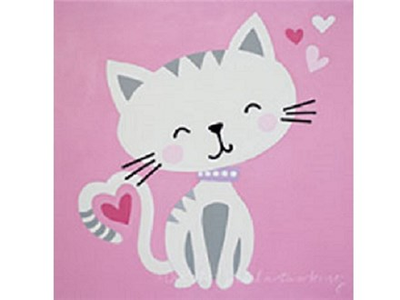 Summer Kids' Canvas Class! Kitty Love! 7/23/18