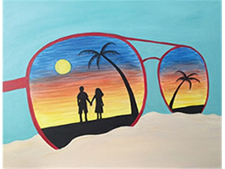 Adult Canvas - Sand and Sunglasses - 08.01.17