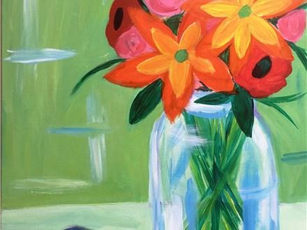 Rustic Bouquet Canvas Painting Workshop - Friday, April 20th