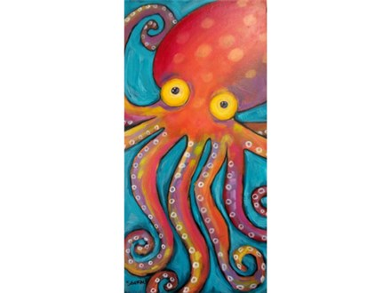 Octopus - 10x20 canvas (Ages 12+)