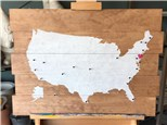 """""""Travel the USA"""" - Board Art at Fire Me Up! Studio"""