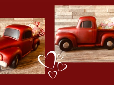 Vintage Ceramic Container Truck at Valenzano Winery - February 28th