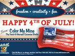 Happy 4th of July! Paint Red White & Blue